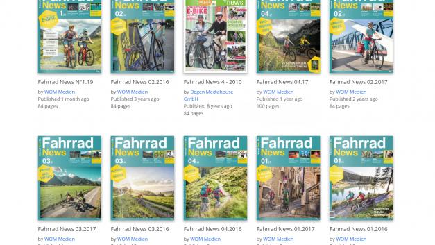 Fahrradmagazine online lesen