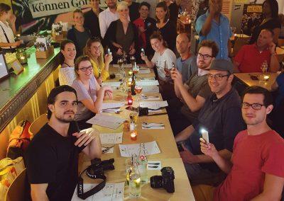 Pro Velo - Instameet Gruppenfoto in der Spaghetti Factory von @pgart @bhcommunication @mtbswitzerland