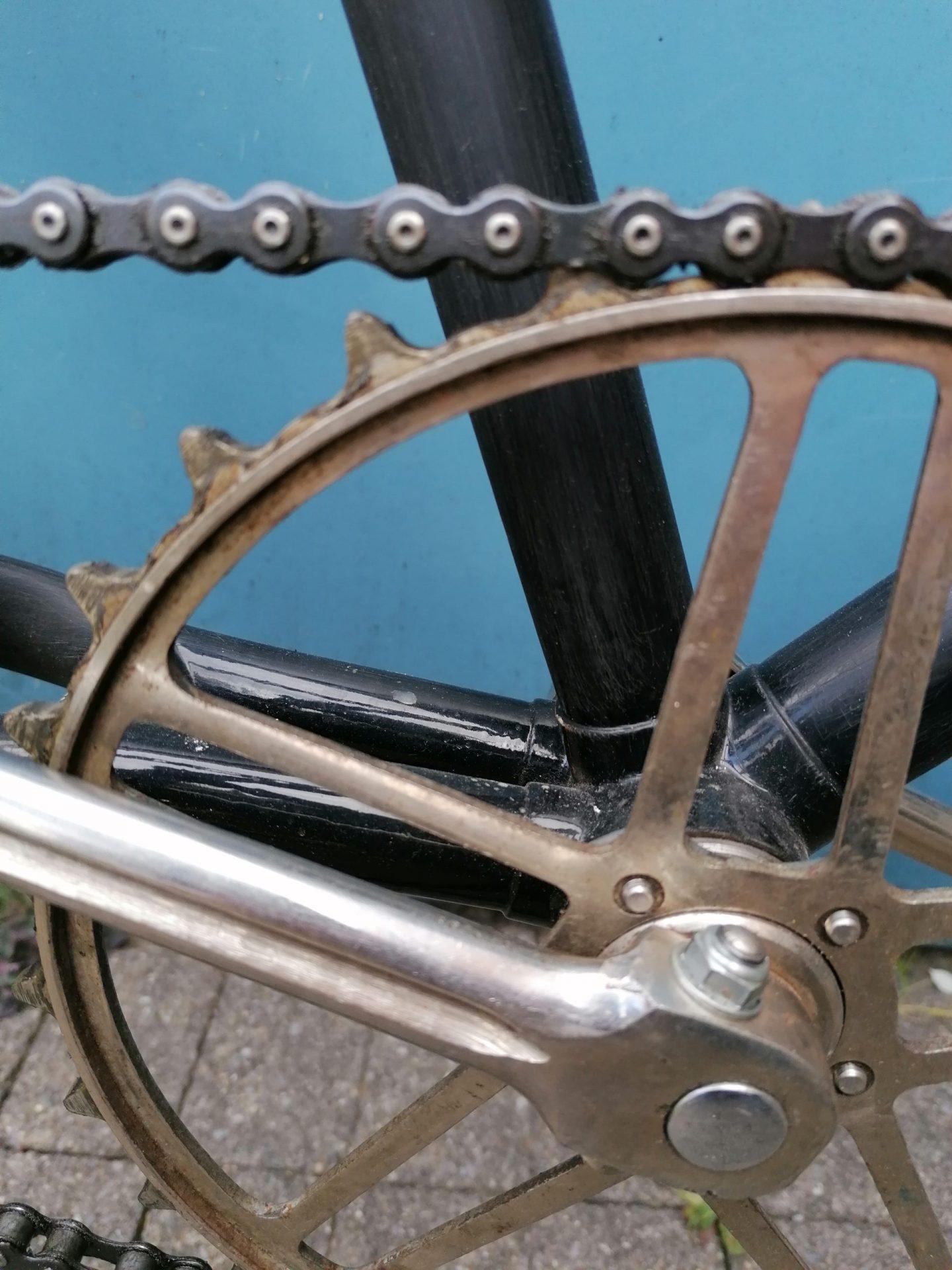 Pro Velo Zürich zeigt die schönsten Fahrräder: Hier das Velo von Roger Gfeller - mit seinem speziellen Zahnkranz.