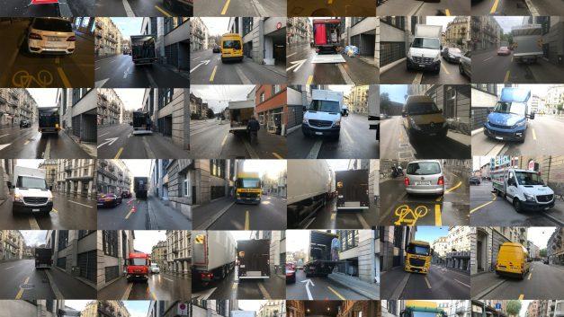 Was sagt das Gesetz zu Lieferwagen auf dem Velostreifen?