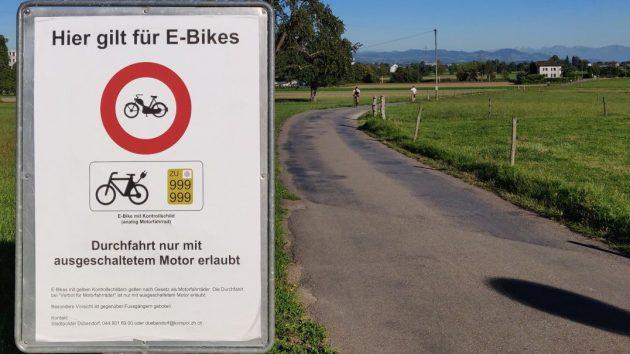 Fahrverbot für schnelle E-Bikes in Dübendorf